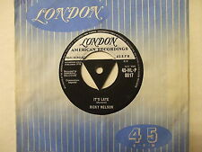 HL-P 8817 Ricky Nelson - It's Late / Never Be Anyone Else But You - 1958