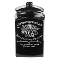 NEW Charlotte Watson Black Bread Crock