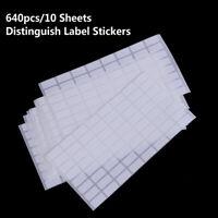 640pcs Distinguish Label Stickers Diamond Classification Storage Labels VhJCmd