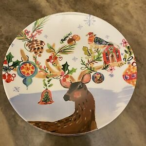 Jennifer Orkin Lewis Anthropologie Melamine Reindeer Christmas Dessert Plate