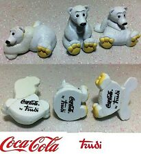 COCA COLA ORSETTI POLARI POLAR BEARS BY TRUDY IN PLASTICA DURA 3 TO COLLECT