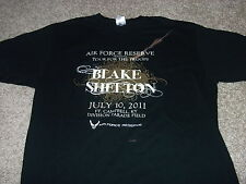 Blake Shelton Air Force Reserve 'Tour For The Troops' 2011 shirt Adult Xl rare