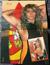 WHITE LION / MIKE TRAMP / FREAK OF NATURE 80'S MAGAZINE CENTERFOLD PINUP + DVD
