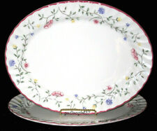 Johnson Brothers Bros Summer Chintz * 2 OVAL PLATTERS * Flowers, 1-Exc, 1-Flaws