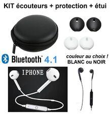Casque écouteurs bluetooth 4.1 sans fil sport magnetique mains-libres oreillette