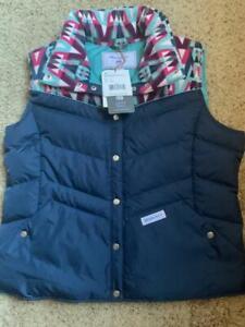 $129! NWT Obermeyer Women's Carson Down Insulator Vest Trident XL