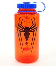 Nalgene Tritan 32oz Water Bottle, Wide Mouth, Red/Blue, Spiderman