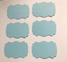 10x Baby Blue Cardboard Tags Ideal For Gifts Wedding Place Names Baby Shower
