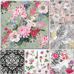 5 Single Paper Table Napkins for Decoupage * FLOWERS * FEATHERS * FOLK * NATURE