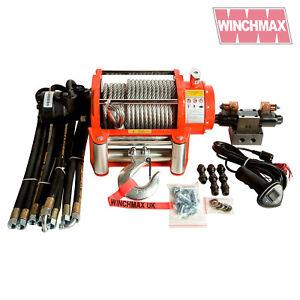 Hydraulik Winde 9072kg WINCHMAX Original Orange Winde mit Stahl Seil