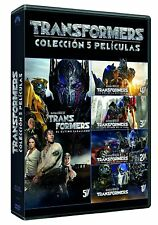 TRANSFORMERS SAGA COMPLETA DVD NUEVO ESPAÑOL CASTELLANO 1 2 3 4 5 CABALLERO