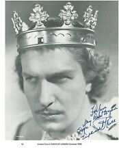 "Vincent Price Hand-Signed Tower of London Page 10 1/2"" x 8 1/8"" RARE Legend"