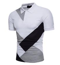 New Men Slim Fit POL Shirts Short Sleeve Casual Plain T-shirt Tees Tops