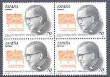 2000 BEATO JOSEMARIA ESCRIVA DE BALAGUER OPUS DEI  EDIFIL 3721 ** MNH B4 TC12429