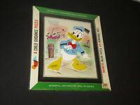 3D Donald Duck A Child Guidance Puzzle Toys W Disney Magnetic 1964 Vintage z699