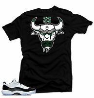 Shirt to Match Jordan 11 low Emerald sneakers-Bull 11 Black tee