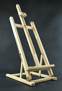 "Table Top Pine Wood Easel 41"" High Display Art Craft Artist Wooden"