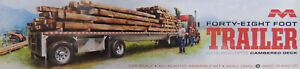 48' FLAT BED TRAILER WITH CAMBERED DECK MOEBIUS 1:25 SCALE PLASTIC MODEL KIT
