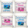 Personalised Caravan Cushion Cover Campervan Camping Lifes a Pitch Pillow Gift