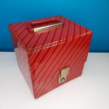"7"" Vinyl Record Case with Handle Vintage Retro Red"