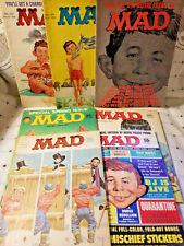 MAD Magazine Vintage Lot (7) 1964-1965 & 1967 Magazines Good Cond Incl No. 97-99