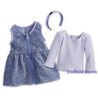 New American Girl Purple Sparkle Outfit~Top~Jumper/Dress~Tenney~Julie~Samantha