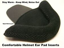 Motorcycle DOT Half Helmet Protective Comfortable Delux Ear Pad Inserts No Wind