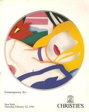 Christie's Sale 8372 Contemporary Art Auction Catalog 1996