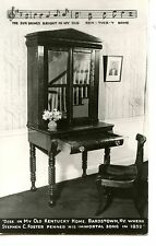 Desk-My Old Kentucky Home Song-Stephen Foster-Bardstown-RPPC-Real Photo Postcard