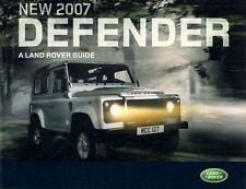 Land Rover Defender 2007 UK Market 36pp Sales Brochure 90 110 130
