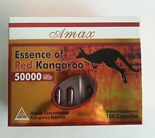 New Amax Kangaroo Essence 50000mg 100 Capsules Box