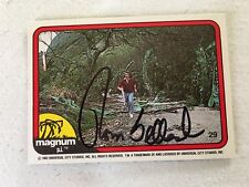 Tom Selleck HAND SIGNED 82 Donruss Magnum PI Card #29 w/COA BLUE BLOODS STAR
