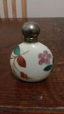 ANTIQUE PORCELAIN ENAMEL & GILT PERFUME SCENT BOTTLE CIRCA 1900