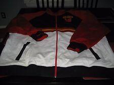 MENS Mitchell & Ness RETRO ATLANTA HAWKS TRACK Jacket WHITE/RED/BLACK 2XL $200