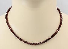 Granat Kette - facettierter roter Granat Halskette für Damen 43,5 cm lang