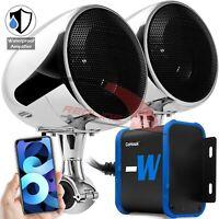 Bluetooth Waterproof Amplifier Motorcycle Stereo Speaker System Harley USB Radio