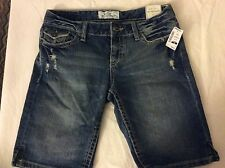 Areopostal Distressed Denim Blue Shorts Nwt Size 1/2