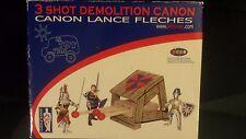 Papo Le Toy Van 3 Shot Demolition Canon - Brand New - Wood