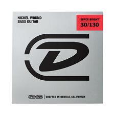 Jim Dunlop DBSBN30130 Medium 6 String Super Bright NICKEL Bass Strings 30-130