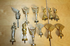 VINTAGE LOT OF 12 METAL TROPHY TOPPERS ~ Cards, Chess, Racing, Pageant
