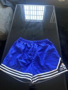 Vintage ADIDAS Spell Out Striped Athletic Soccer Shorts 90s High Rise Med