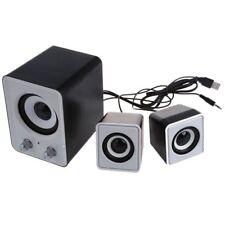 Mini 2.1 Multimedia Stereo Portable USB Desktop PC Speaker white J5H5 SHJ