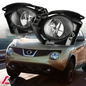 14-17 For Nissan Juke Clear Lens Pair OE Fog Light Lamp+Wiring+Switch Kit DOT