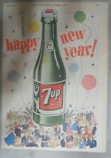 7-Up Ad: Happy New Year ! from 1953  Size: 11 x 15 inches