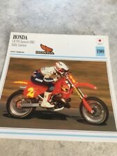 Honda CR500 Japauto HRC Eddy Lawson 1989 CR 500  Carte moto Collection Atlas