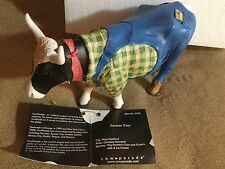 "Cow Parade Figurine "" Farmer Cow "" ( # 7763 - Retired & RARE )"