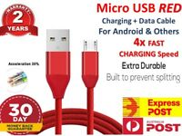 Micro USB Cable 1M 2M Fast Charging Charger Long Cord For Android Samsung Galaxy