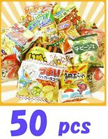 Japanese Puffed Snack Box set 50 pcs Dagashi Assortment