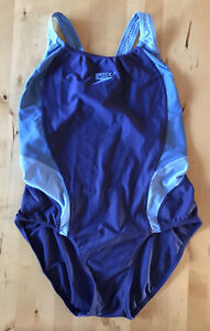 Ladies Speedo blue swimsuit - approx size 18-20
