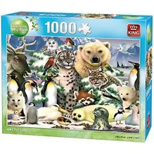 King Puzzles Arctic Life 1000 Piece Animal World Jigsaw Puzzle 05485